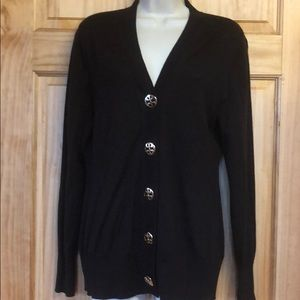 Tory Burch Brown Wool Cardigan